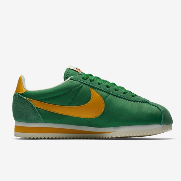 official photos d4813 45026 GREEN AND YELLOW NIKE CORTEZ